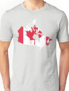 Canada Flag and Map Unisex T-Shirt