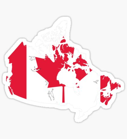 Canada Flag and Map Sticker