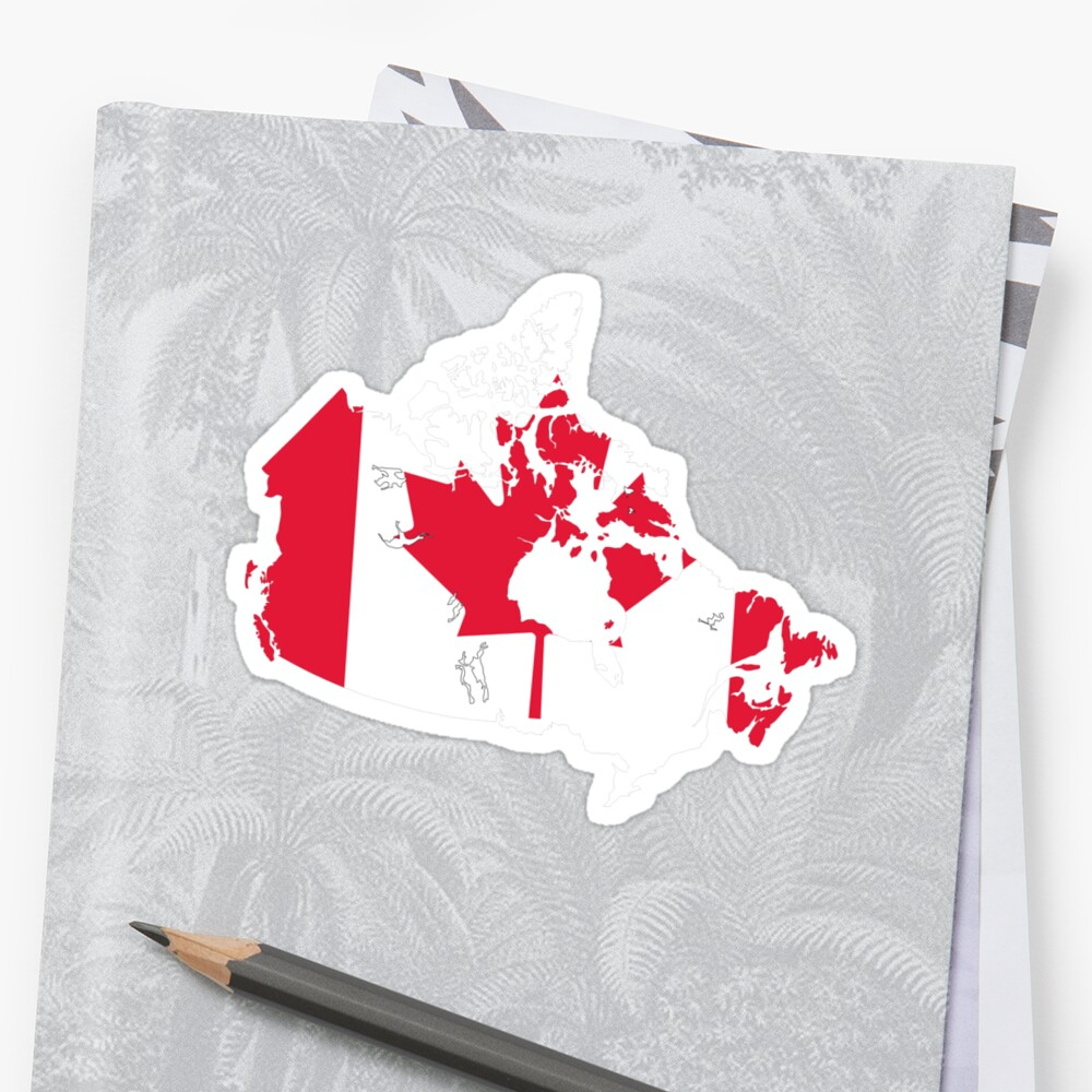 Canada Flag and Map by Nhan Ngo