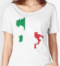 Italy Flag and Map Women's Relaxed Fit T-Shirt