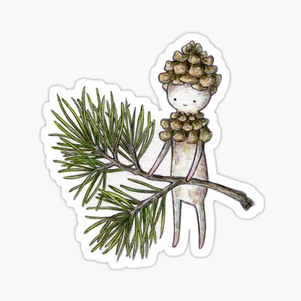 Pinecone Sticker