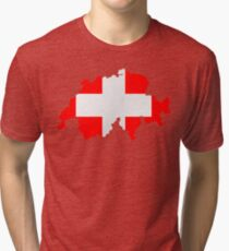Switzerland Tri-blend T-Shirt