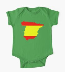 Spain Flag and Map One Piece - Short Sleeve