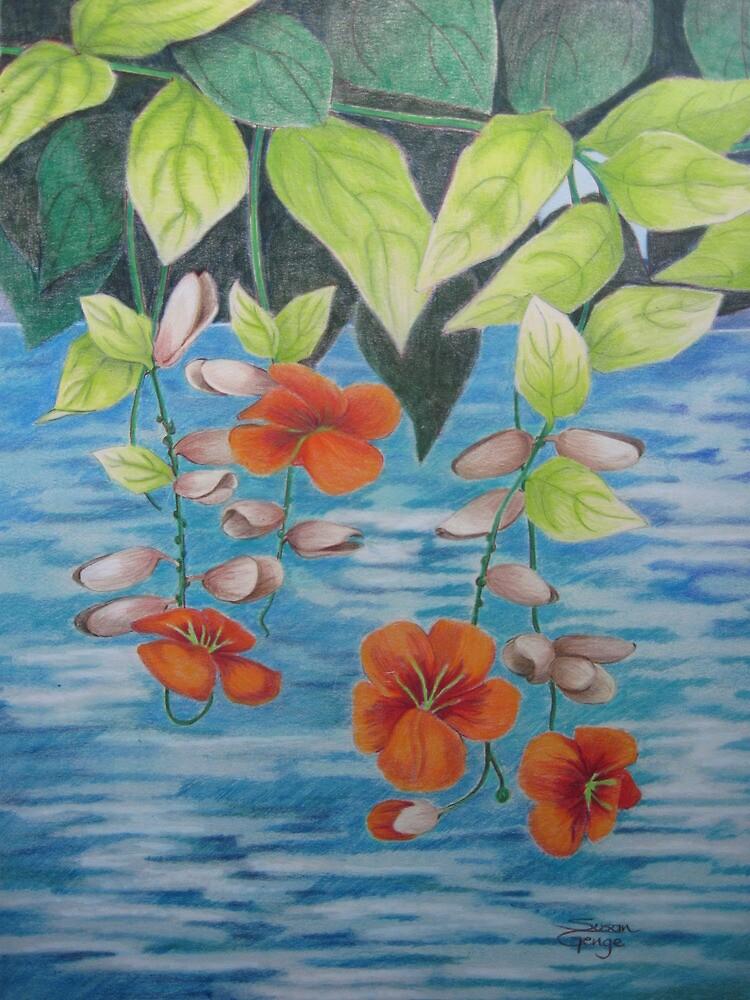 Tropical Fantasy: Dancing Water by Susan Genge