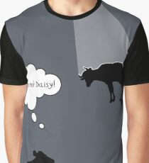 Banksy Style Cow Abduction  Graphic T-Shirt