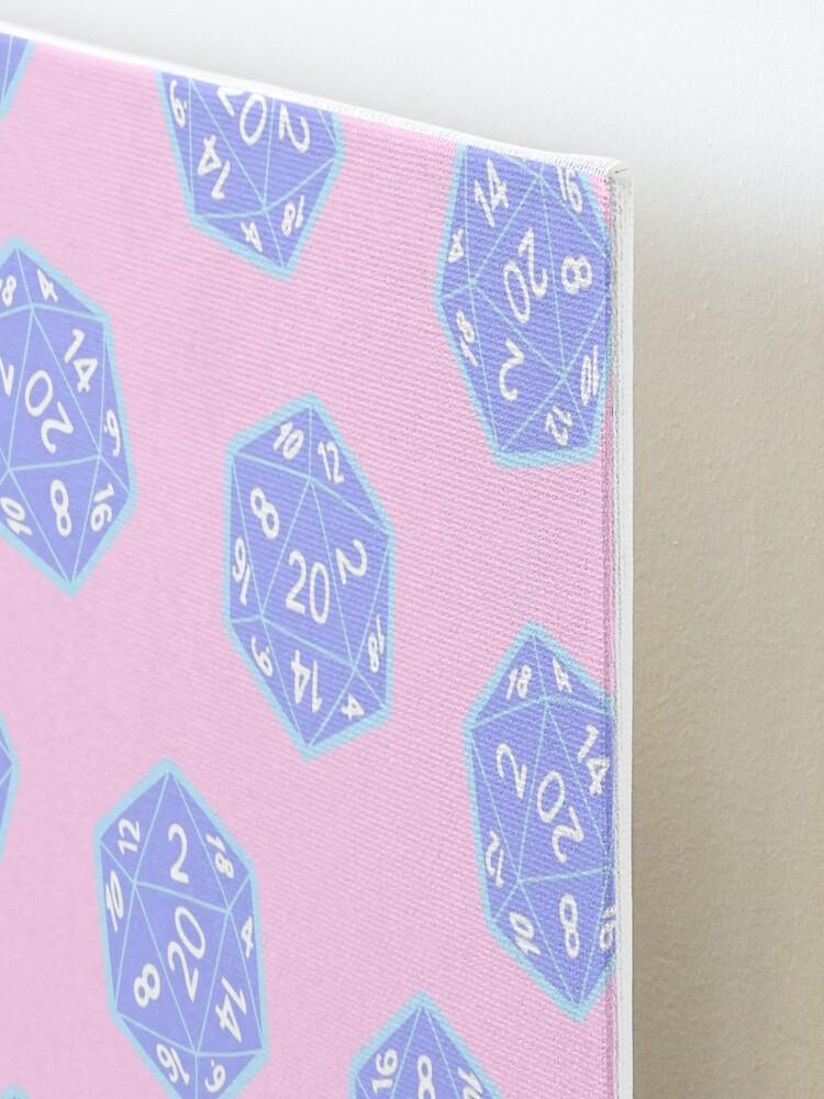 Alternate view of Twenty Sided Dice Pattern in Pastels Mounted Print