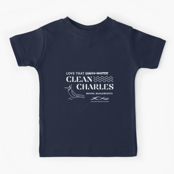Dirty Water / Clean Charles Childrens Kids T-Shirt