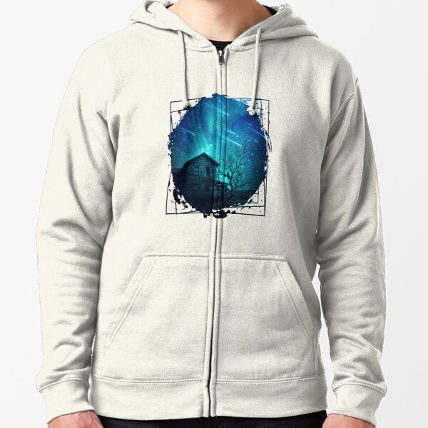 No One Home when stars are falling... Zipped Hoodie