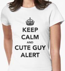 cute guy alert Women's Fitted T-Shirt