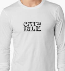 Cats Rule Typography Long Sleeve T-Shirt