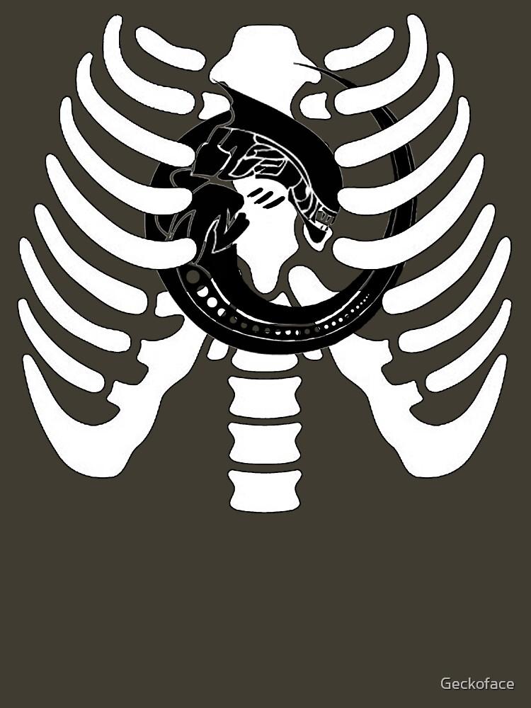 Alien Chest Burster Rib Cage Design | Unisex T-Shirt
