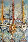 Castellon, Boats at Noon by Stefano Popovski