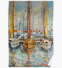 Castellon, Boats at Noon Poster