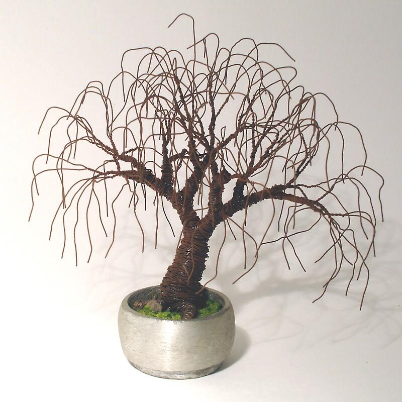 RUSTED BONSAI - Mini Tree Sculpture, by Sal Villano  by Sal Villano