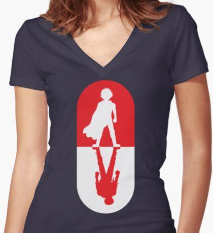 TOKYO PILL 1.0 Women's Fitted V-Neck T-Shirt