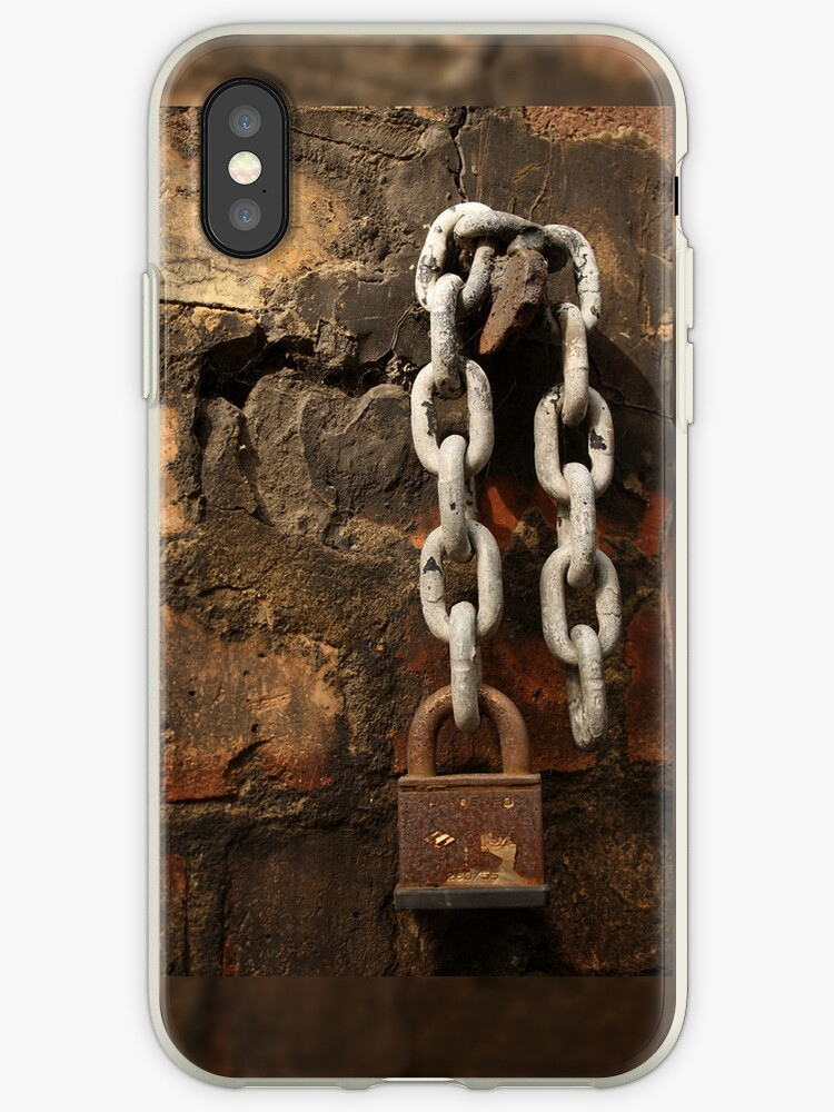 Chain and padlock iPhone-case by Esther  Moliné
