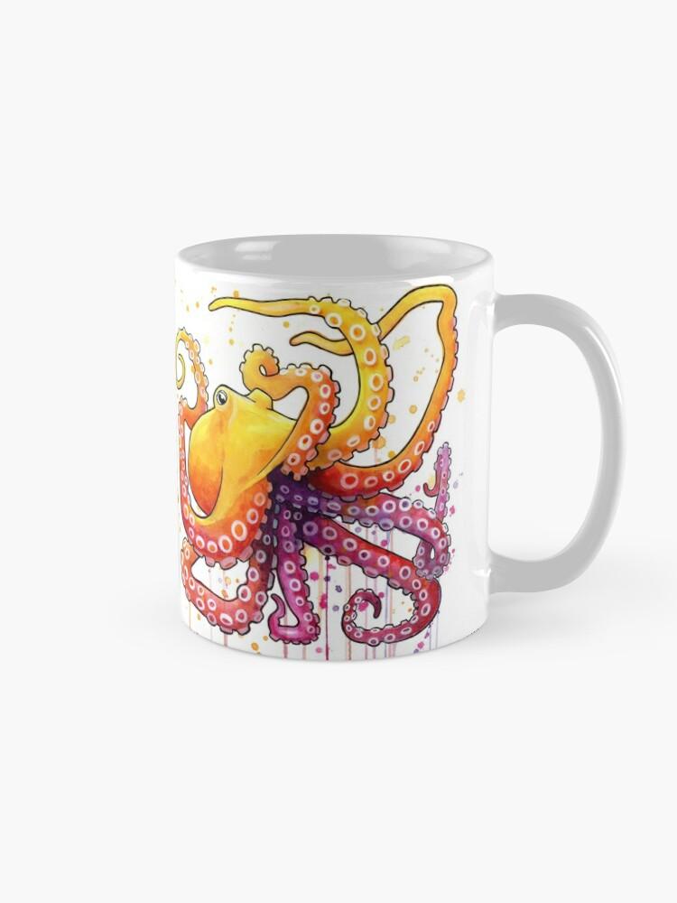 Alternate view of Octopus Sunrise Mug
