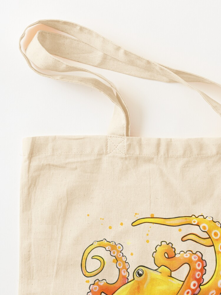 Alternate view of Octopus Sunrise Tote Bag