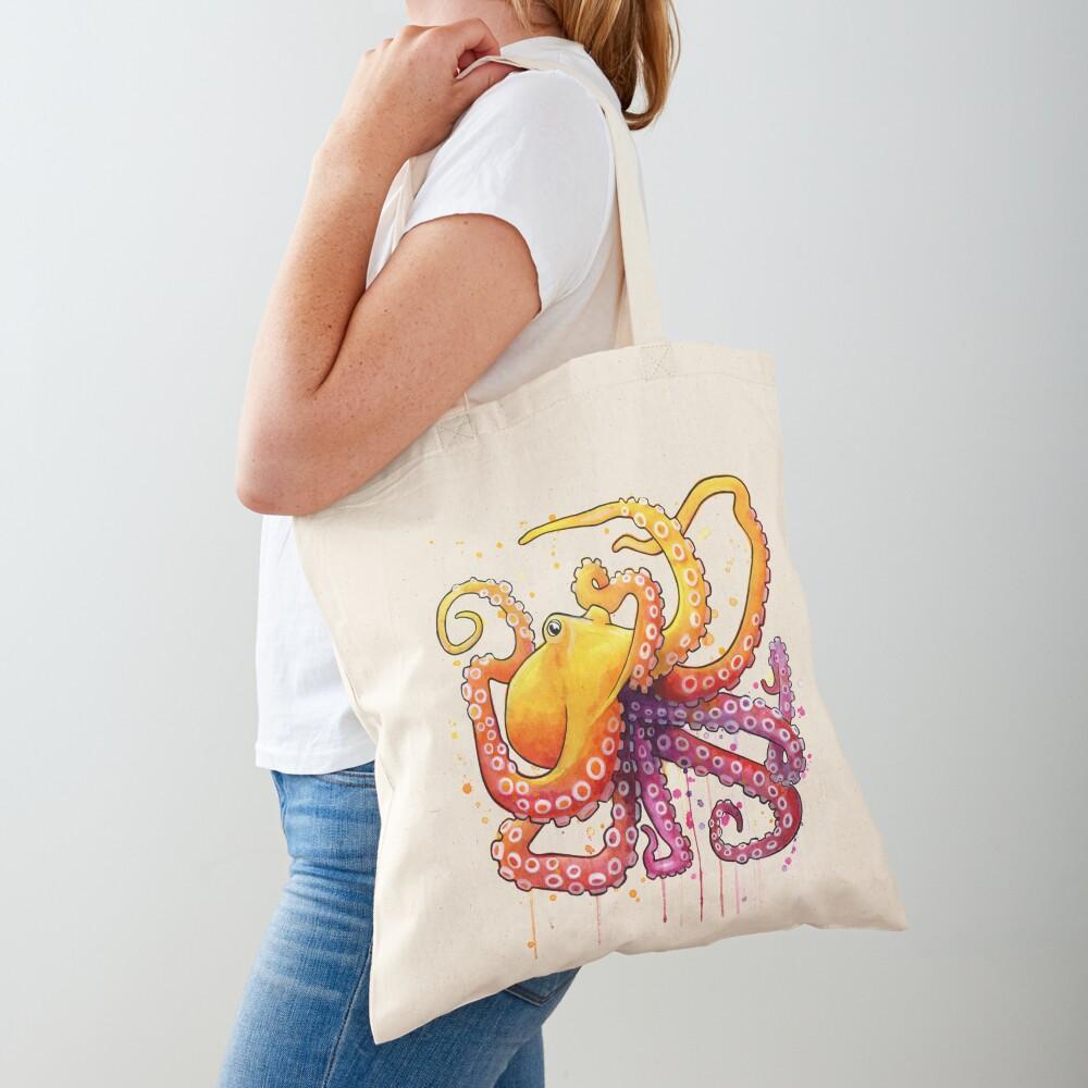 Octopus Sunrise Tote Bag