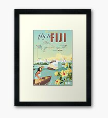 Coral Route - Fiji and Solent flying boat Framed Print