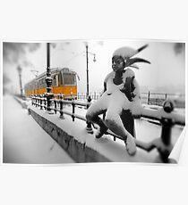 Yellow Tram - Budapest Poster