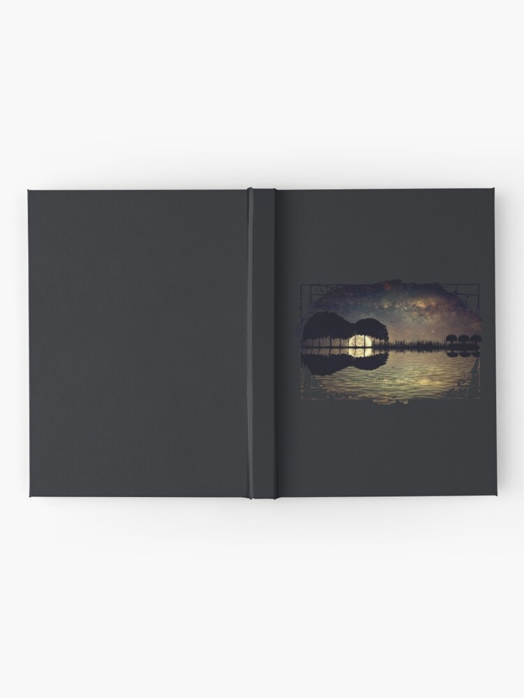 Alternate view of guitar island moonlight Hardcover Journal