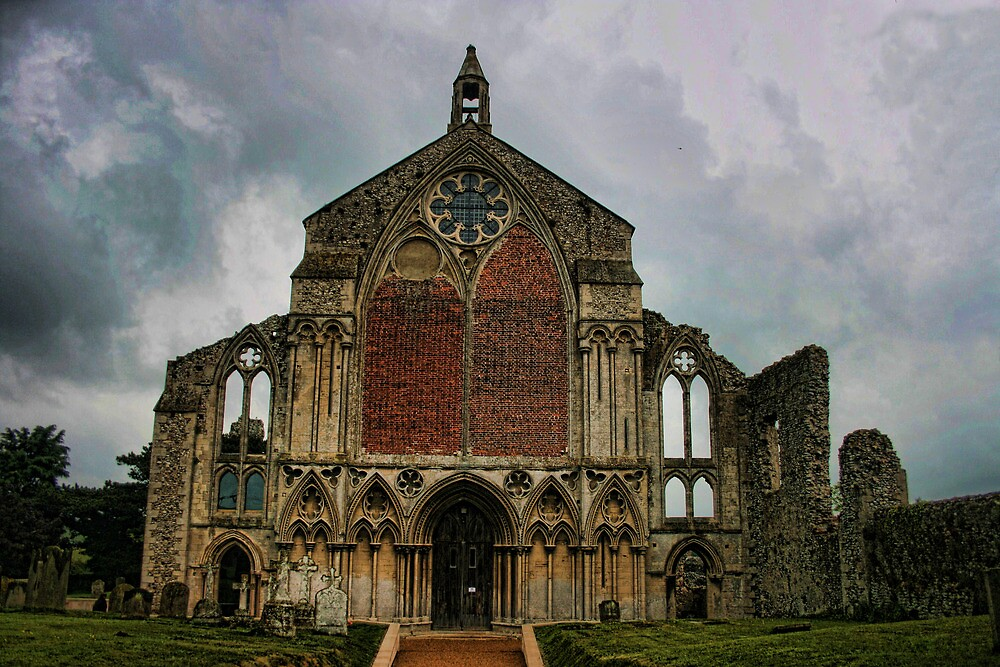 Binham Priory from the west by Dave Godden