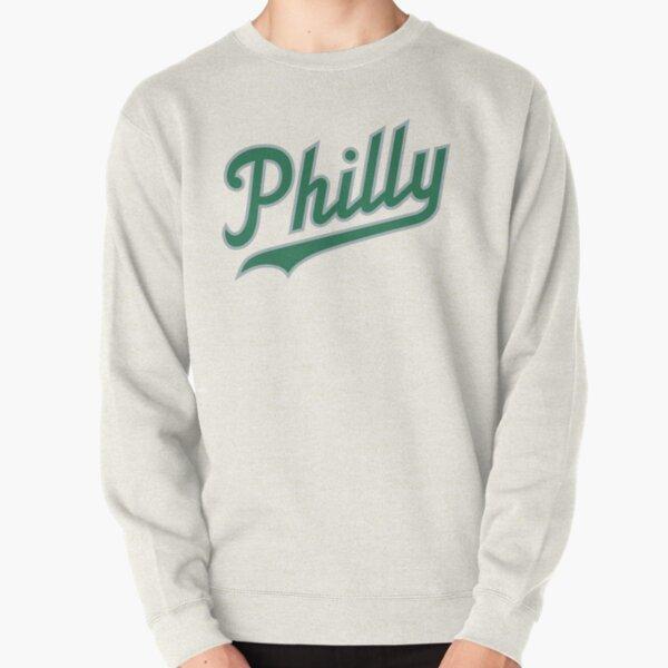 Philly Script - White/Green Pullover Sweatshirt
