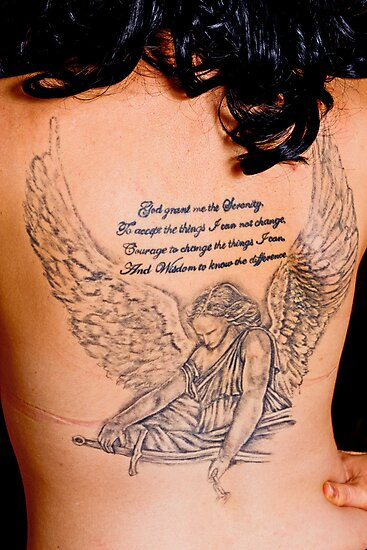 Angels message, tattoo body art prayer by thermosoflask