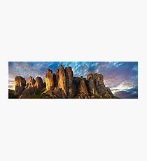 Meteora Mountain Monateries, Greece Photographic Print