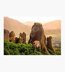 Meteora Mountain Monateries, Greece 2 Photographic Print