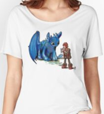 How To Train Your Dragon 'Toothless'  By EmegE  Women's Relaxed Fit T-Shirt