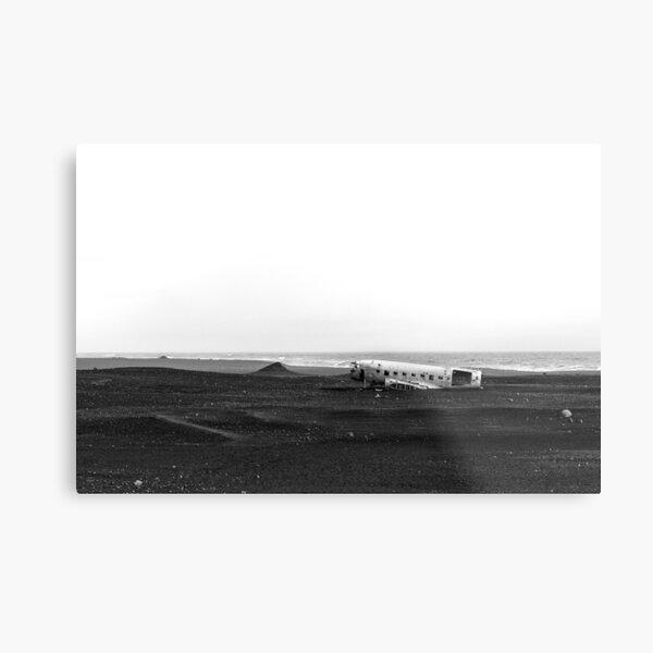 Emergency landing at Sólheimasandur Metal Print