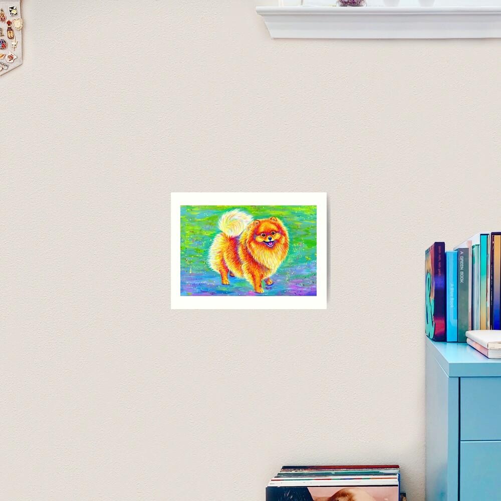 Rainbow Pomeranian Art Print