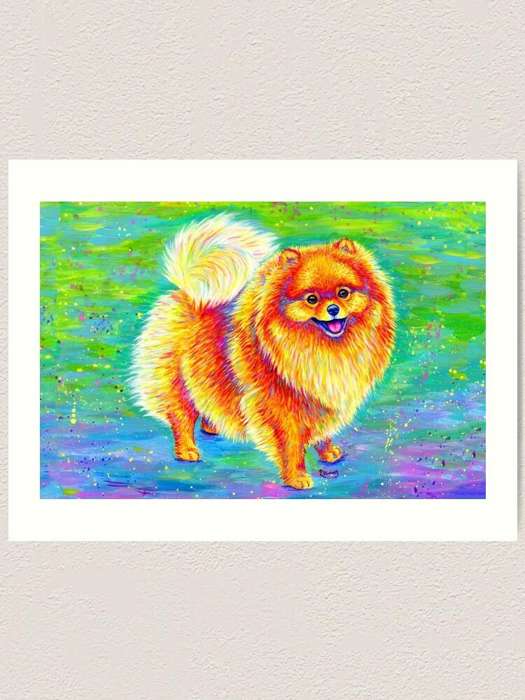 Alternate view of Rainbow Pomeranian Art Print