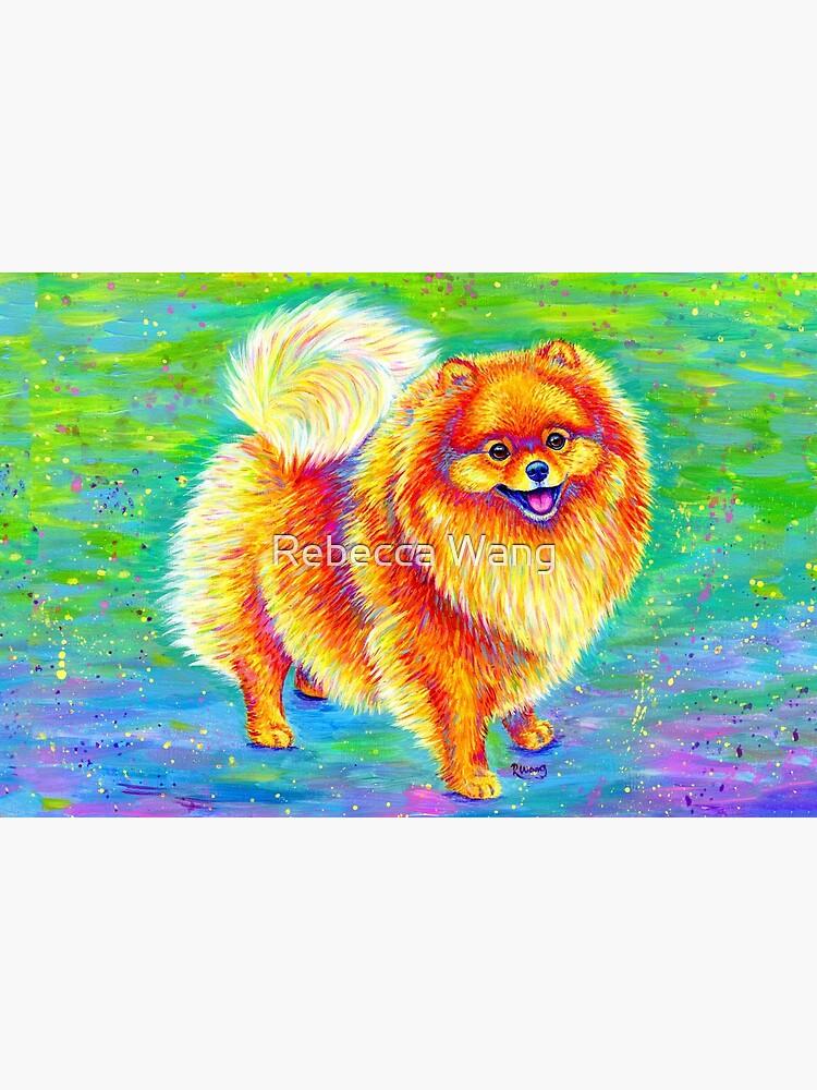 Rainbow Pomeranian by lioncrusher