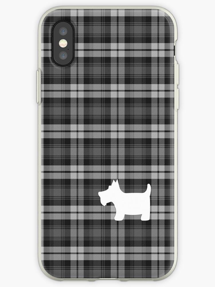 Grey Watch Tartan Plaid with Scottie Dog by ArtformDesigns