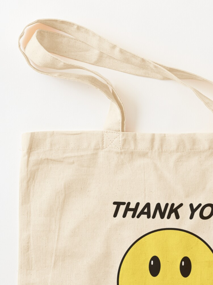 Alternate view of Thank You Have a Nice Day - Smiley Thank You Bag - (Bodega Style) Reproduction | Tote Tote Bag