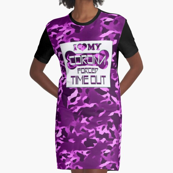 CORONA FORCED TIME OUT - LILAC T-Shirt Kleid