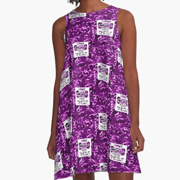 CORONA FORCED TIME OUT - LILAC A-Linien Kleid