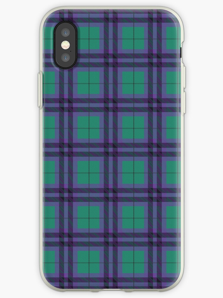 Jade Green and Purple Tartan Plaid Pattern by ArtformDesigns