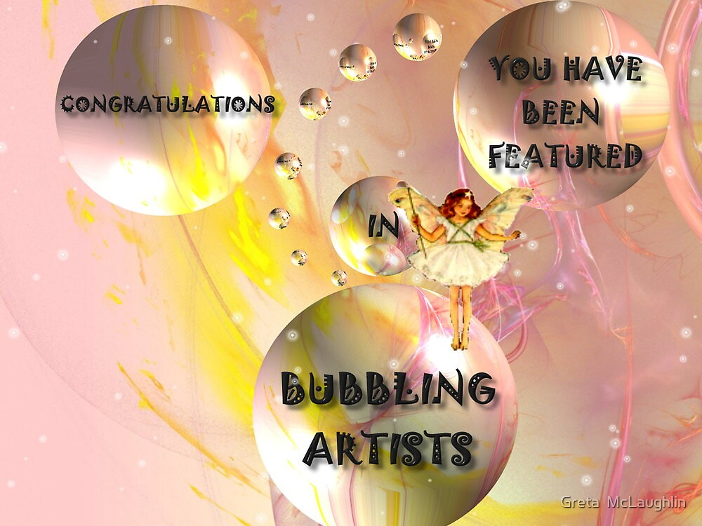 Bubbling Artists ~ Challenge by Greta  McLaughlin