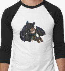 How To Train Your Dragon Manga Design Men's Baseball ¾ T-Shirt