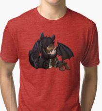 How To Train Your Dragon Manga Design Tri-blend T-Shirt