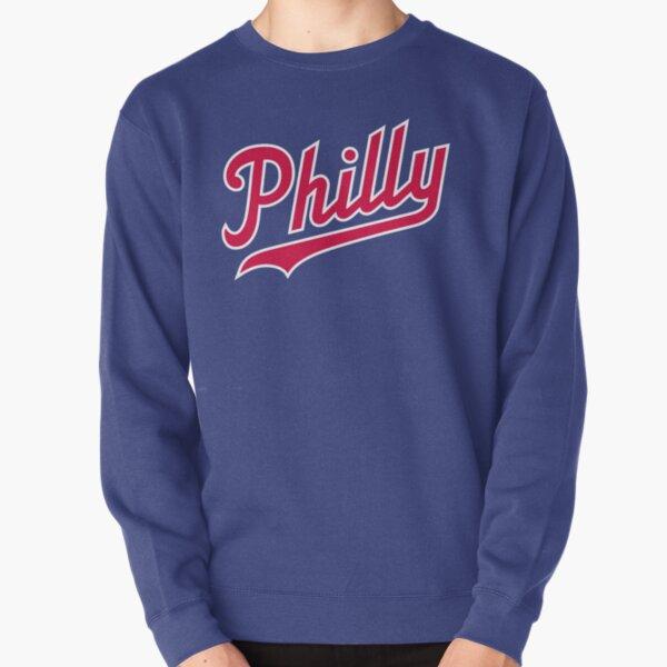 Philly Script - Blue/Red Pullover Sweatshirt