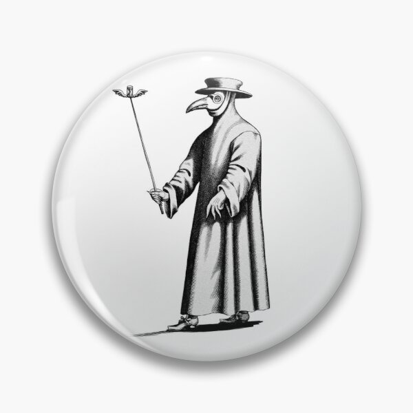 Bubonic Plague Doctor Mask-Black Plague Black Death Disease Pin