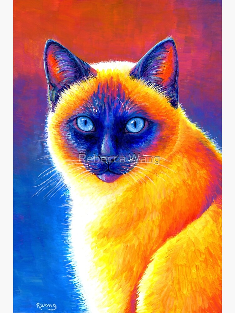 Jewel of the Orient - Colorful Siamese Cat by lioncrusher
