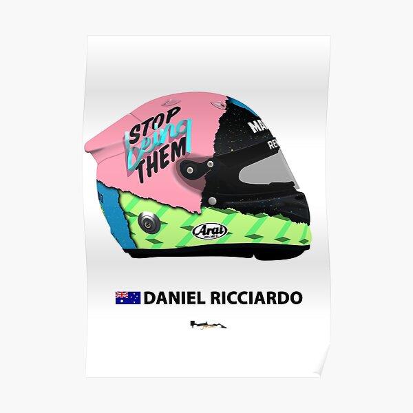 F1 - Daniel Ricciardo - 2019 Helmet. Poster