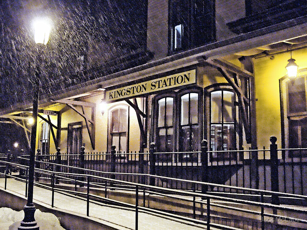 Snowy Night at the Station - 2009.01.10 *featured by Jack McCabe