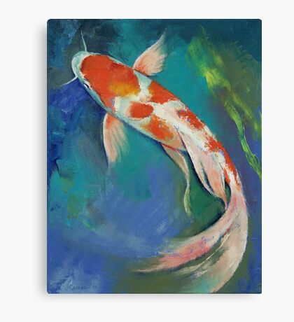 Kohaku Butterfly Koi Canvas Print